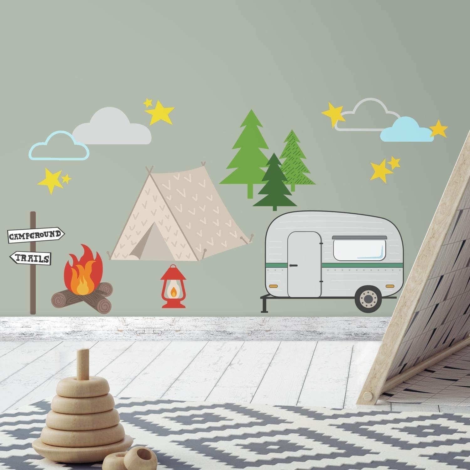 RoomMates Camping Peel And Stick Wall Decals