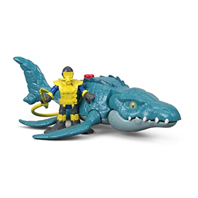 Fisher-Price Imaginext Jurassic World, Mosasaurus & Diver: Toys & Games