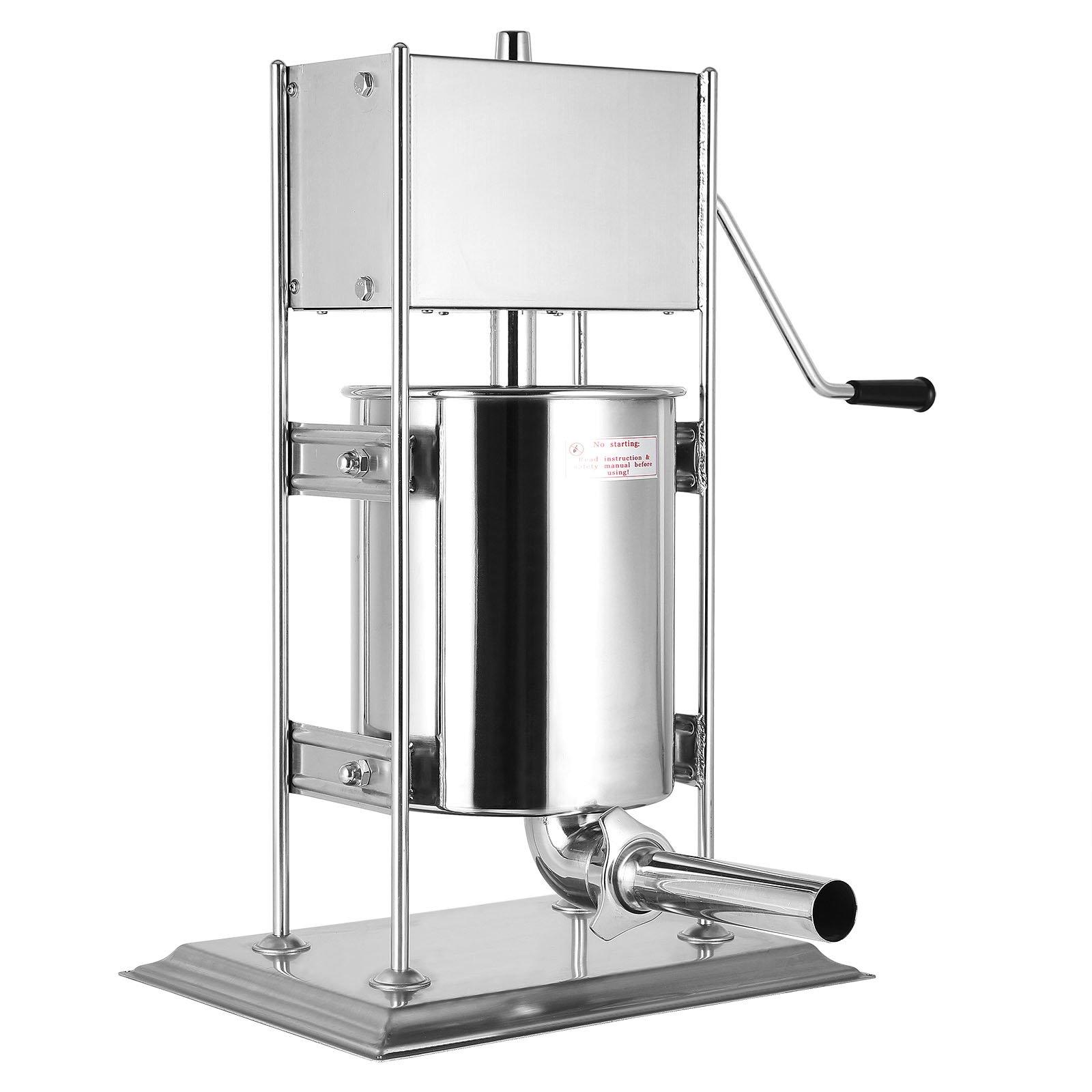 Ceny Sausage Filler Machine Stainless Steel Vertical Sausage MakerManual Commercial Grade Restaurant Meat Filler (10L/22LB)