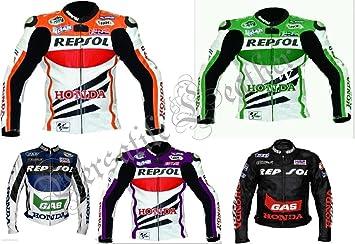 Repsole Honda Battlax/Gas Chaqueta de piel para motocicleta de carreras: Amazon.es: Coche y moto
