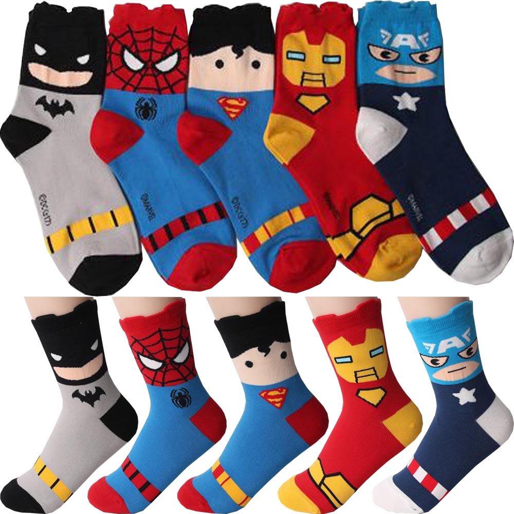 Calcetines de Marvel Comics Super Hero Personaje para Mujer Pack de 5 Metro: Amazon.es: Ropa y accesorios