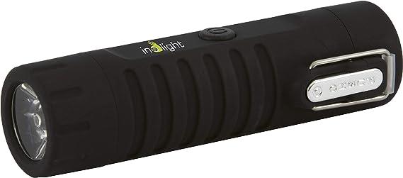 schwarz inolight CL 8 Wasserdichter USB Lichtbogenanz/ünder mit LED Taschenlampe USB, Akku, Aufladbar, flammloses Feuerzeug, LED