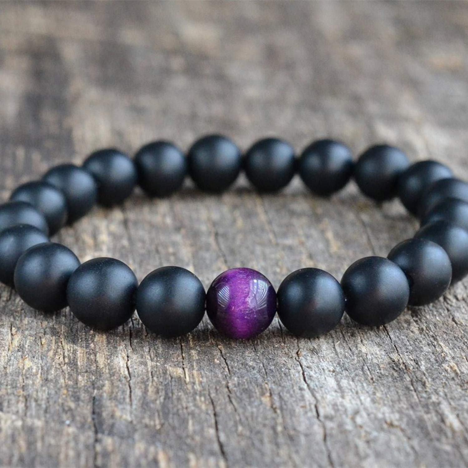 Magic Magic Shop 8mm Matte Onyx Beads 10 Colors Fashion Natural Tiger Stone Bracelets Bangles Jewelry