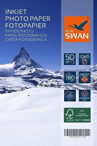 100 hojas de papel fotográfico 10 x 15 cm, 180 g/m² ...