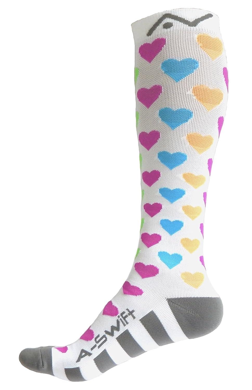 A-Swift Compression Socks Women & Men 20-30mmhg Best for Running, Athletic  Sports, Crossfit, Flight Travel - Suits Nurses, Maternity Pregnancy - Below