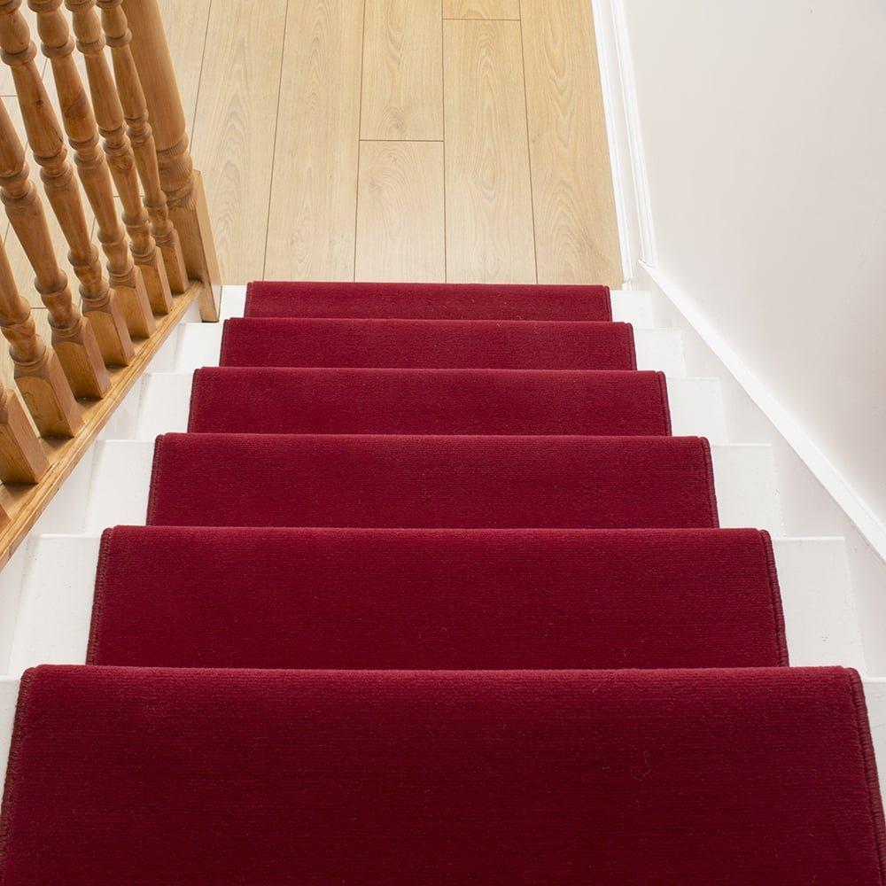 Carpet Runners UK , rot Uni Uni Uni – Hall, Treppe Teppich Läufer (erhältlich in Jede Länge bis 30 m) B01K282SP4 Lufer 6364a5