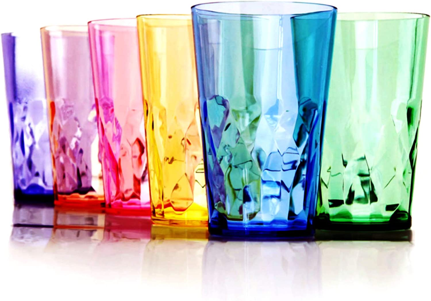 SCANDINOVIA - 19 oz Unbreakable Premium Drinking Glasses Tumbler - Set of 6 - Tritan Plastic Cups - BPA Free - Made in Japan
