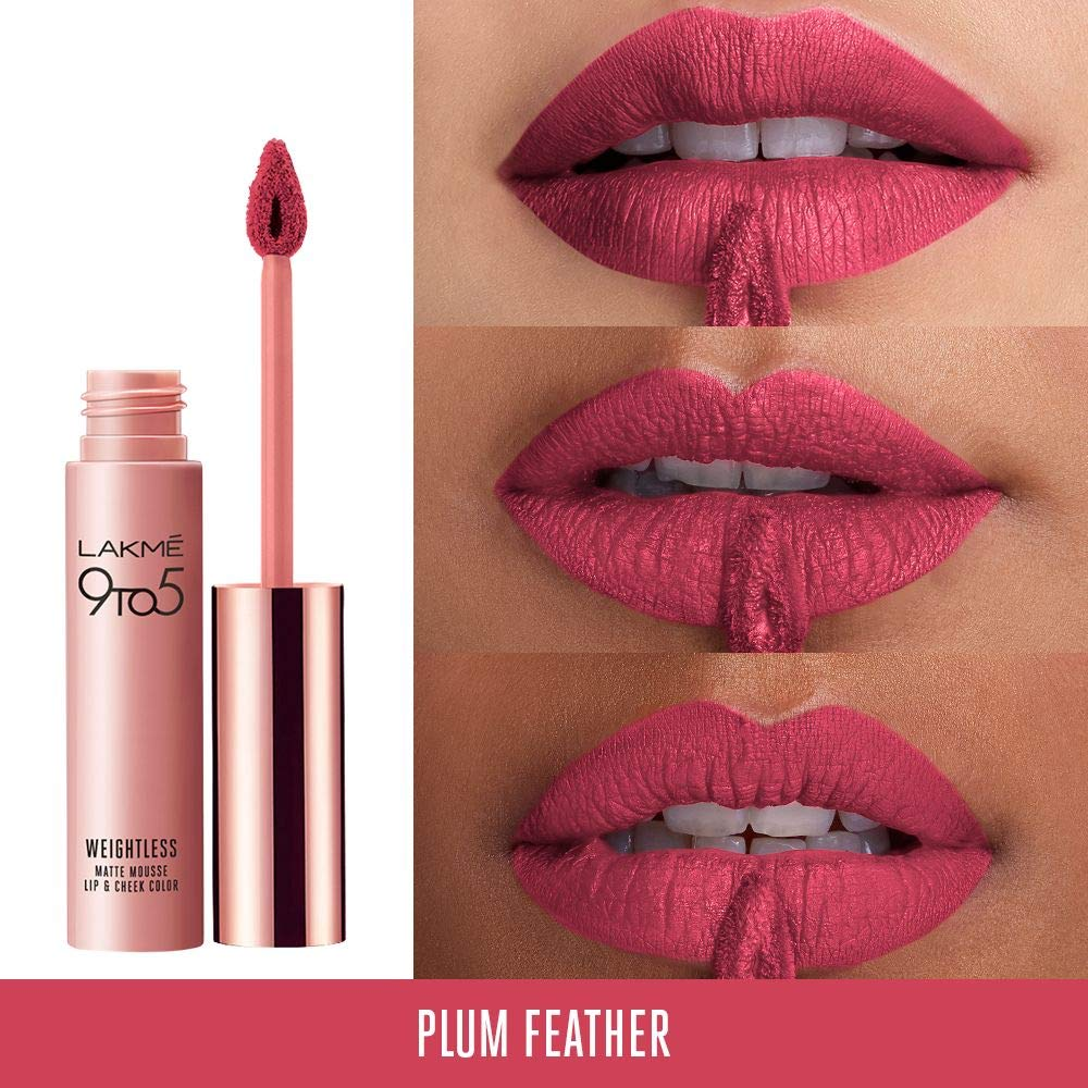 Details about Lakme 9 To 5 Weightless Mousse Lip Color Long Lasting Waterproof Lipstick