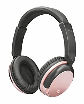 Trust Urban Kodo - Auriculares inalámbricos con tecnología Bluetooth para Llamadas telefónicas y música, Color Oro y Rosa: Amazon.es: Electrónica