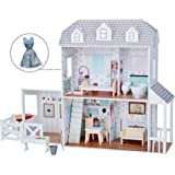 "Filii - Dreamland Farm House for 12"""" Doll House - White / Grey & Beauty Accessories Set (TD-12901A-1)"
