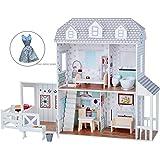 "Filii - Dreamland Farm House for 12"""" Doll House - White / Grey & Beauty Accessories Set (TD-12901A-1)"