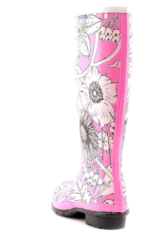 Luckers Girls Tall Flowers Wellies Rain Boots