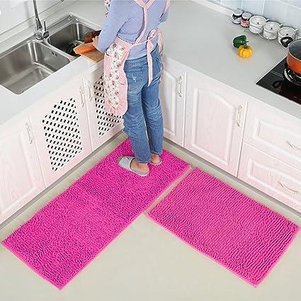 Amazon.com : Doormat/chenille, kitchen floor mats/foot pad/anti ...
