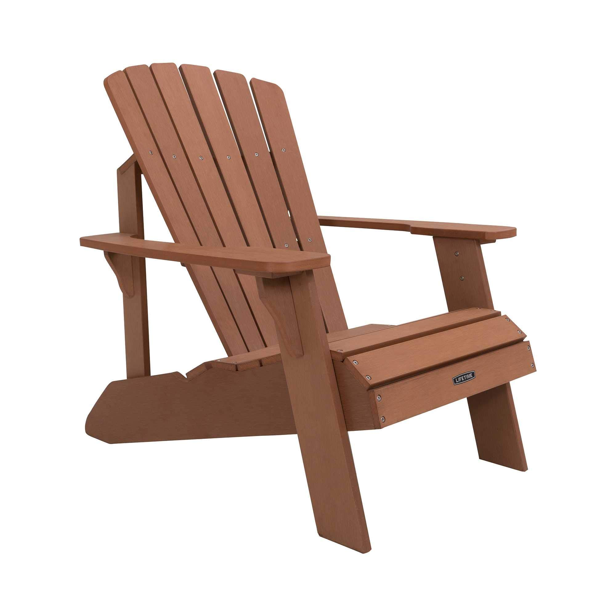 Lifetime Faux Wood Adirondack Chair, Light Brown - 60064 by Lifetime