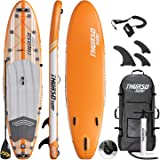 THURSO SURF Inflatable Stand Up Paddle Board All-Around SUP 10'/10'6/11' Waterwalker Deluxe Package – Carbon Shaft…
