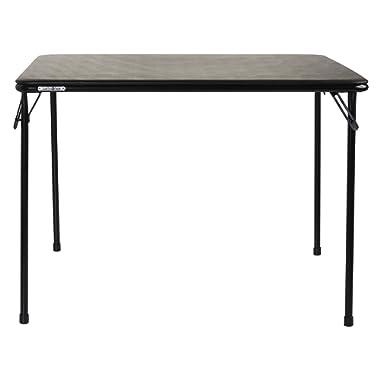 Samsonite 748661041 Card Table, 39  x 39 , Black