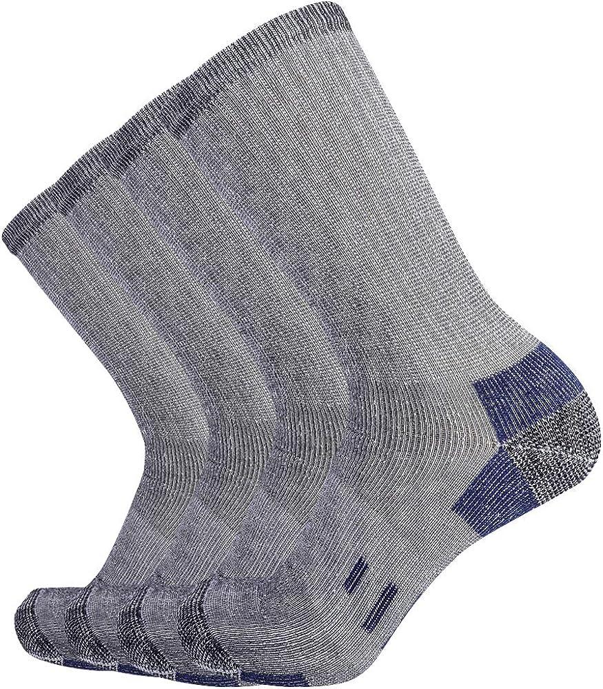 Enerwear Mens Thick Wool Cushion Crew Socks 4P Pack