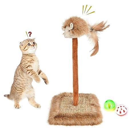 Fantástico rascador para Gatos, rascador para Gatos con ratón Vocal, rascador para Garra de