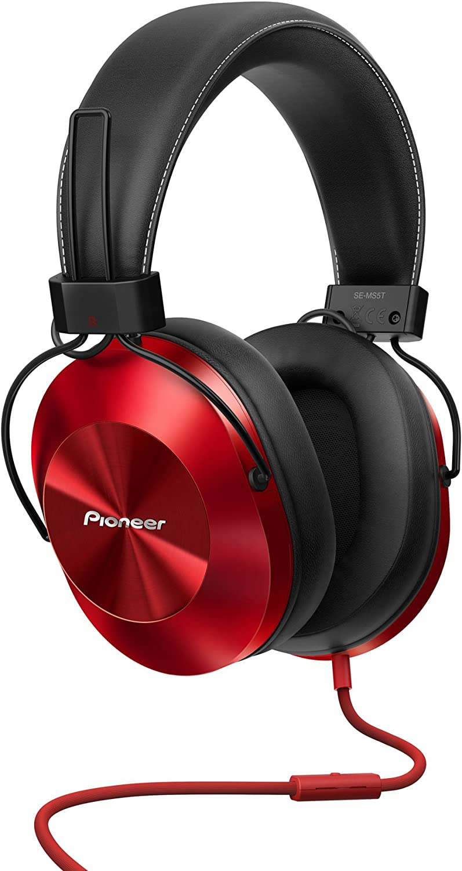Pioneer SE-MS5T-R - Auriculares de tipo diadema (HiRes, power bass ...