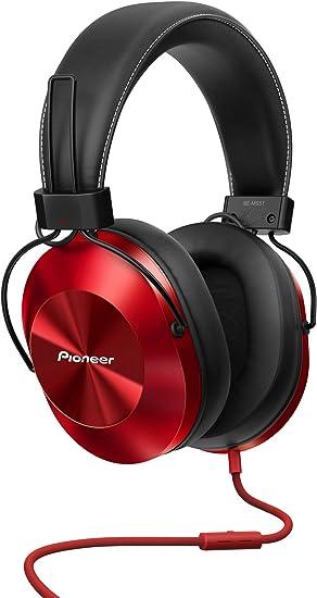 Pioneer SE-MS5T-R - Auriculares de tipo diadema (HiRes, power bass, micrófono, control de Smartphone), colo Rojo: BLOCK: Amazon.es: Electrónica