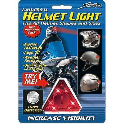 Street FX 1044081 Red Motorcycle Helmet Light: Automotive
