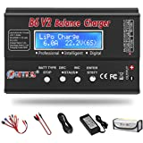 LiPo Battery Charger 1S-6S Balance Discharger Digital Battery Pack Charger for NiMH/NiCD/Li-Fe/LiHV/Li-ion Packs with LCD Display Hobby Battery Chargers with Deans Connectors Power Supply