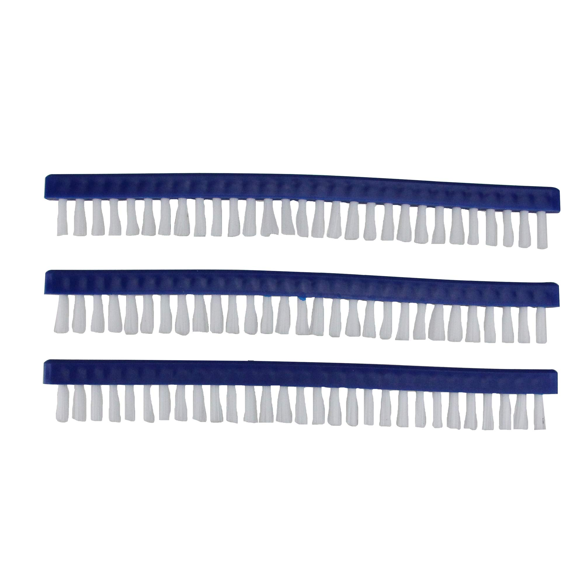 Pack of 3 Blue Long Replacement Brushes for Swimming Pools and Spas Vacuum Head 9""