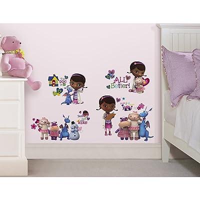 RoomMates Doc Mcstuffins Peel and Stick Wall Decals - Decorative Wall Appliques - .com