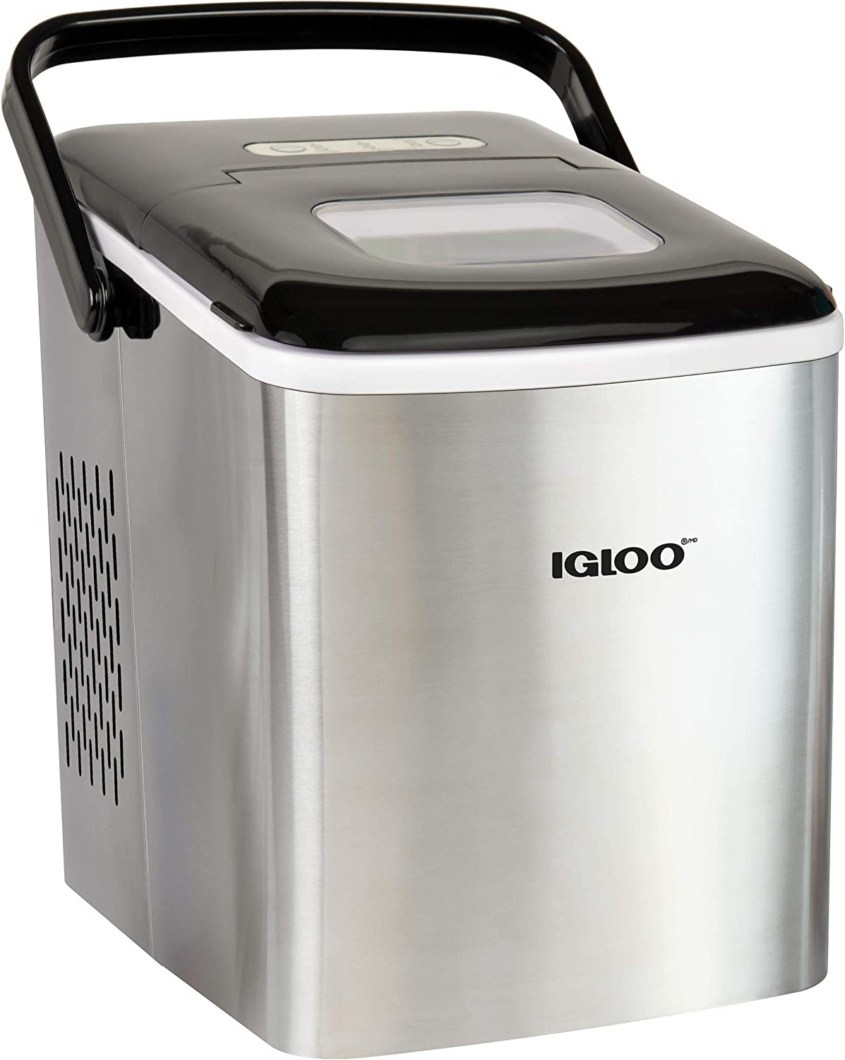 Igloo Automatic Self-Cleaning Portable Electric Countertop Ice Maker Machine With Handle