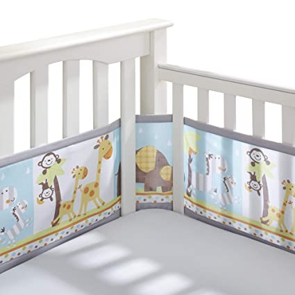 Amazon.com : BreathableBaby Classic Breathable Mesh Crib Liner - Best Friends : Baby