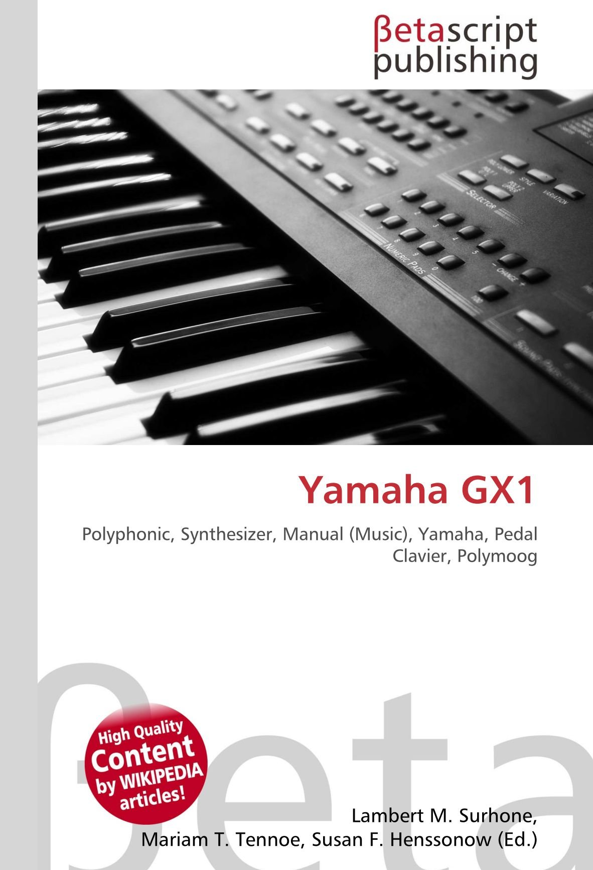 Yamaha Gx1: Amazon.es: Surhone, Lambert M, Timpledon, Miriam ...