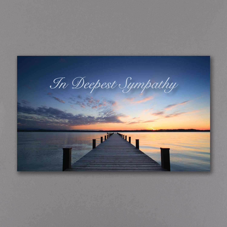 25pk Calming Waters-Sympathy Cards