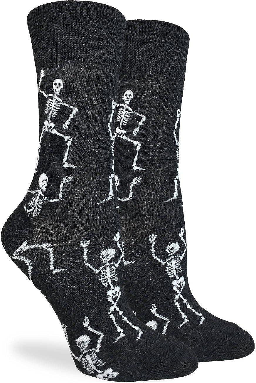 Good Luck Sock Women's Halloween Skeletons Socks - Black, Adult Shoe size 5-9 3075