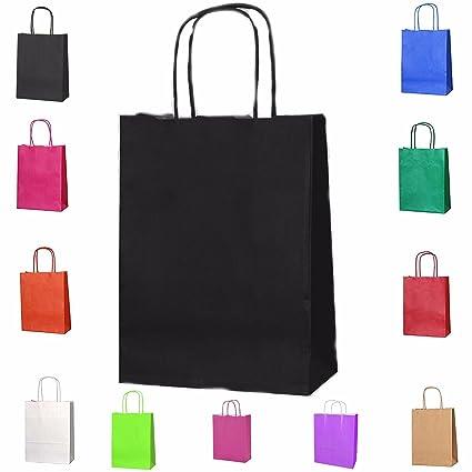 20 Bolsas de asas de trenzado bolsas de regalo de papel ...
