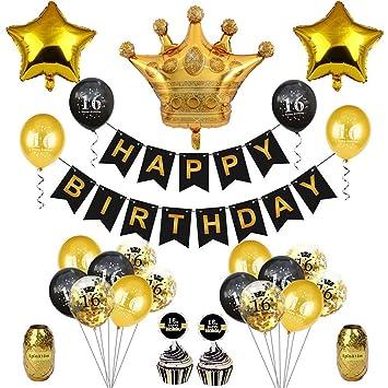 Toyvian 16 años de Edad, Fiesta de cumpleaños decoración ...