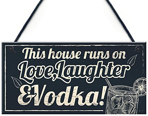 VODKA Funny Pub Bar Man Cave Retro Metal Sign//Plaque Novelty Gift