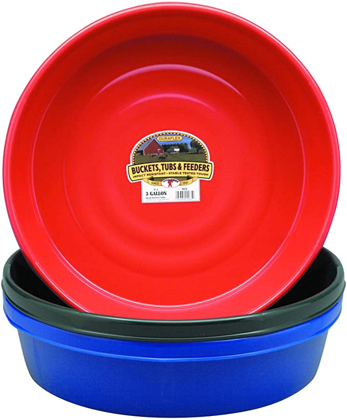 Little Giant Plastic Utility Pan Purple Durable /& Versatile Short Livestock Fe