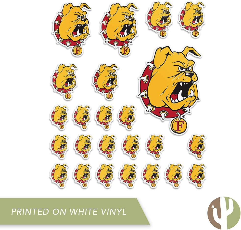Ferris State University FSU Bulldogs NCAA Sticker Vinyl Decal Laptop Water Bottle Car Scrapbook Type 2 Sheet