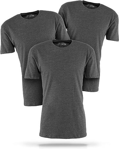 Casual Standard básica Camiseta para Hombre Pack de 3 Manga Corta 100% algodón Cuello Redondo: Amazon.es: Ropa y accesorios