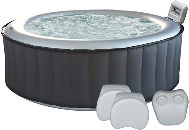 Happy Garden Pack Spa Gonflable Rond Silver Cloud 6 Places