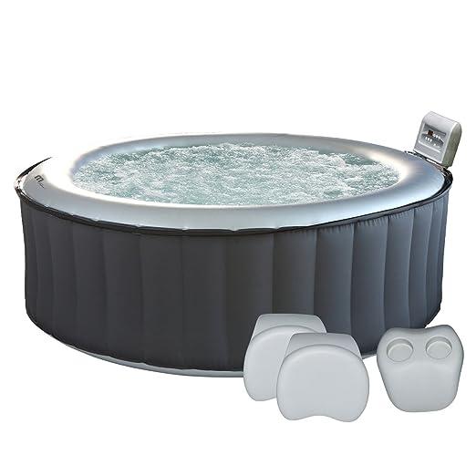 Bañera de hidromasaje redonda hinchable Silver Cloud, para 6 ...