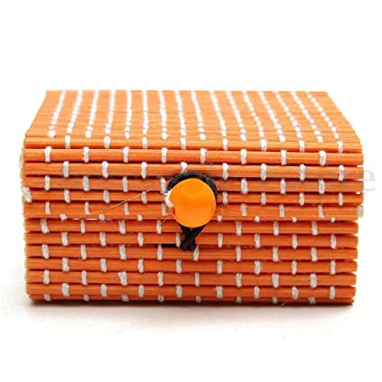 Caja de Slmacenamiento, Anillo collar pendientes bambú madera caso joyería cajas de almacenamiento titular Posh
