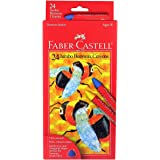 """Faber Castell FC129124 Jumbo Triangular Beeswax Crayon, Assorted Color, 1.75"""" Height, 4.38"""" Width, 9.75"""" Length (Pack of 24)"""