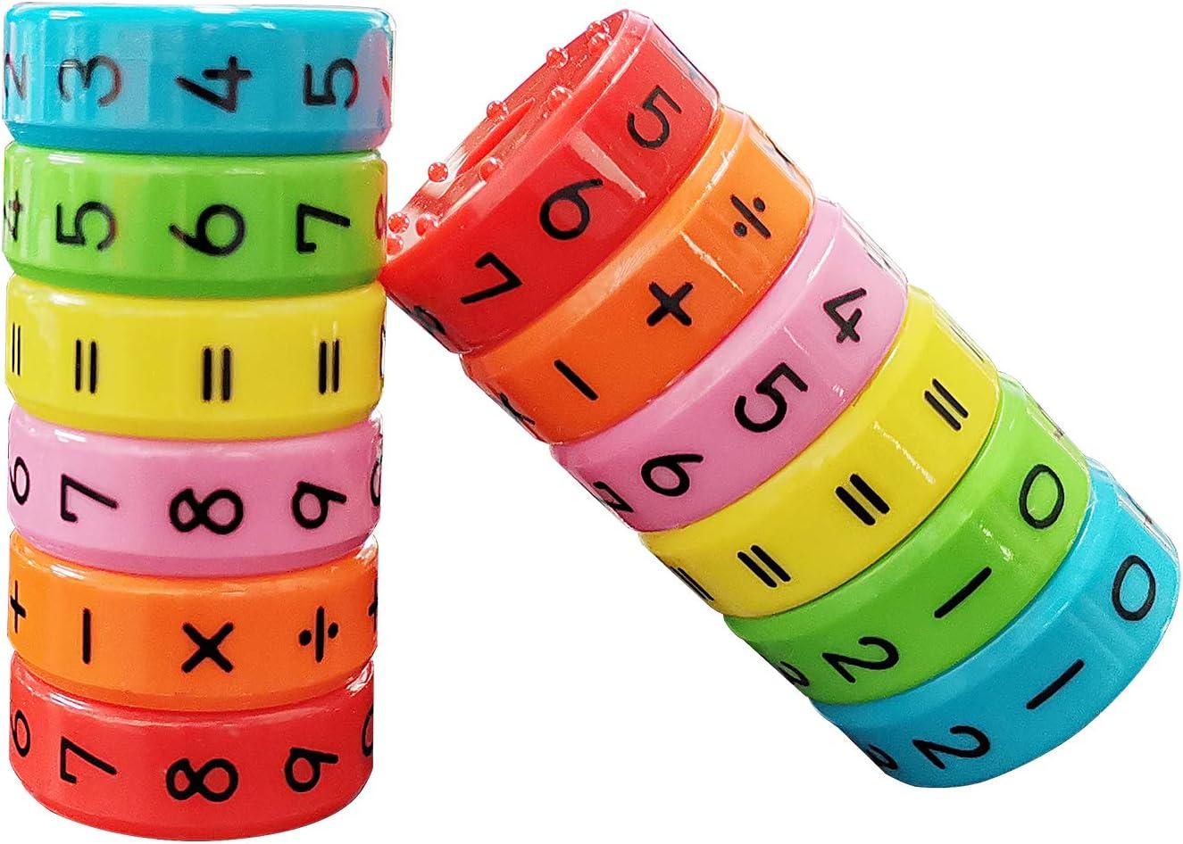 Juguete de Aprendizaje Aritmético Magnético, Regalo Educativo de los Juguetes de Las Matemáticas para los Niños del Bebé, Juguete de Desarrollo del Cerebro de la Inteligencia, Cubo Digital 2pcs