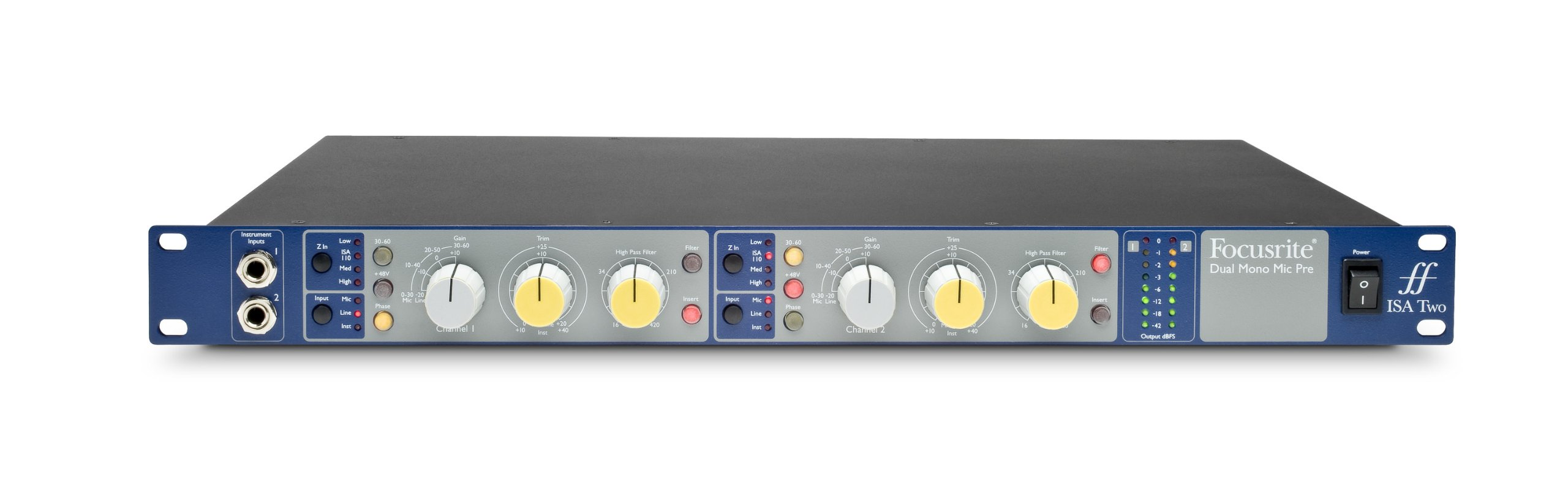 Focusrite ISA Two Focusrite ISA Two Classic Dual Mono Transformer-Based Microphone Preamplifier by Focusrite