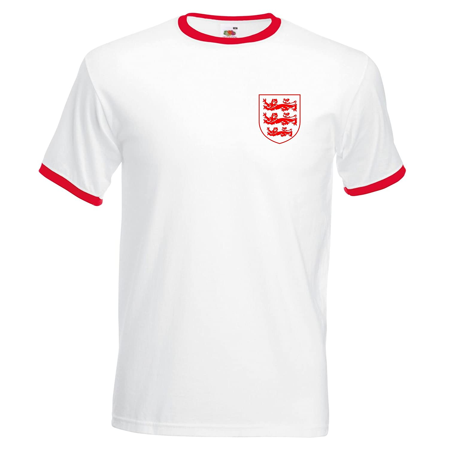 3 LIONS SMALL ST GEORGE CREST ENGLAND FOOTBALL WORLD CUP 2018 POLO MENS