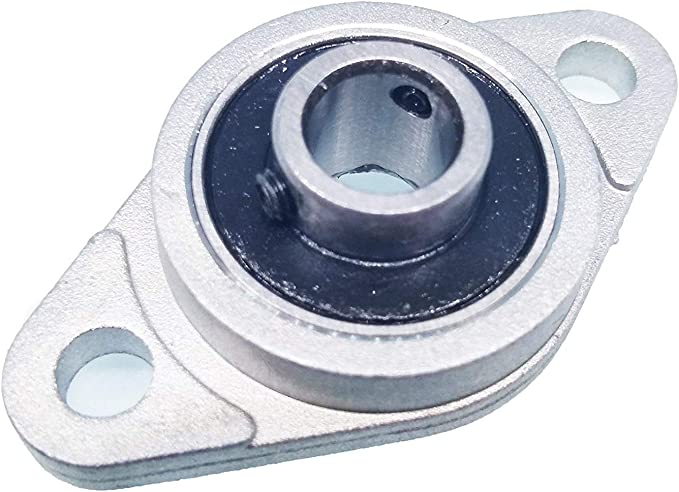 DollaTek 2 Pcs KFL08 8mm Zinc-Aluminum Alloy Flange Pillow Block Bearing