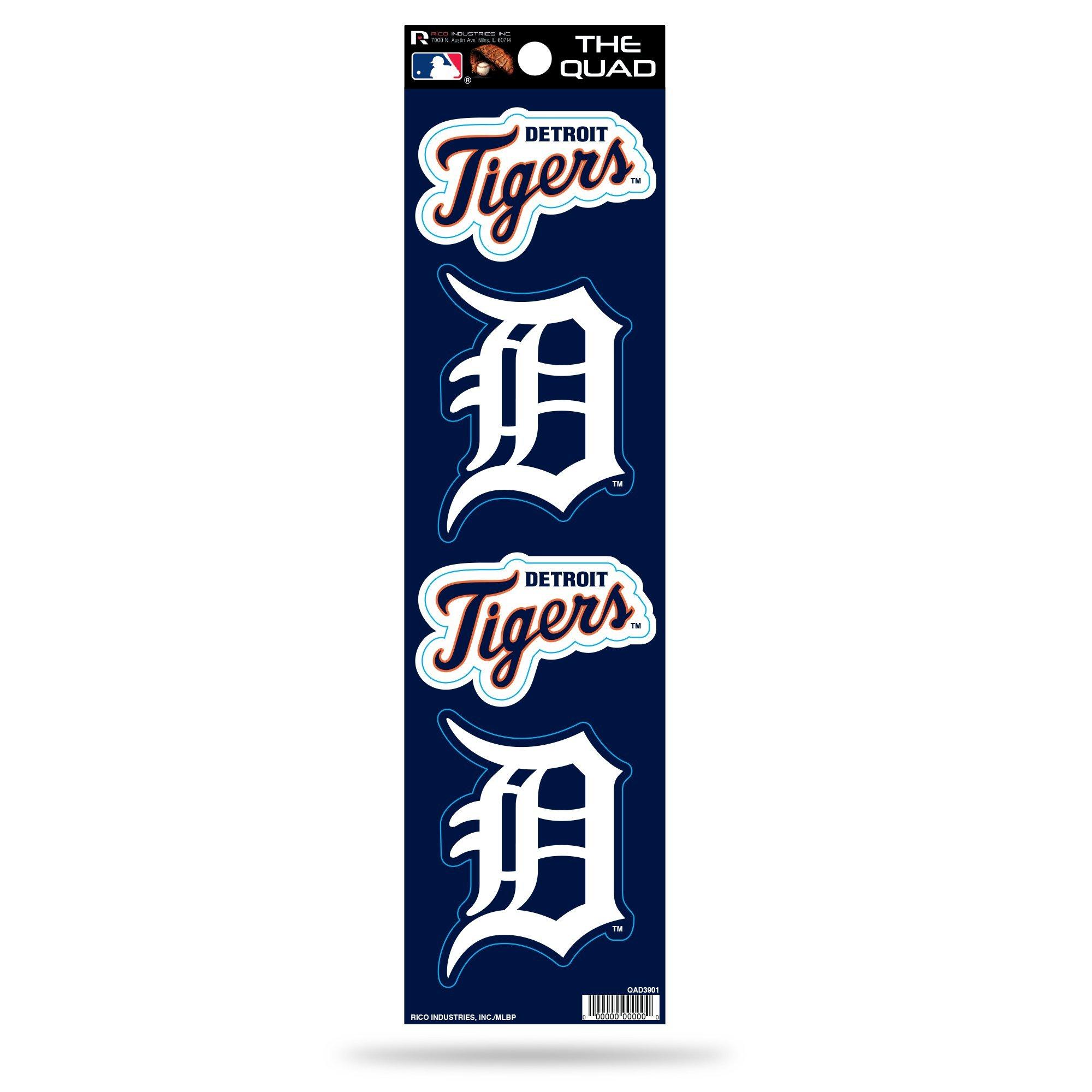 MLB Detroit Tigers Quad Decal