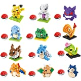 12 Boxes Diamond Block Pokemon Miniature Building Blocks Parent-child Games Children's Educational Toys Pikachu Charizard Ect