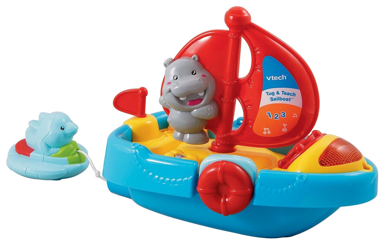 Top Vtech Toys : Vtech tug and teach sailboat bath toy top christmas
